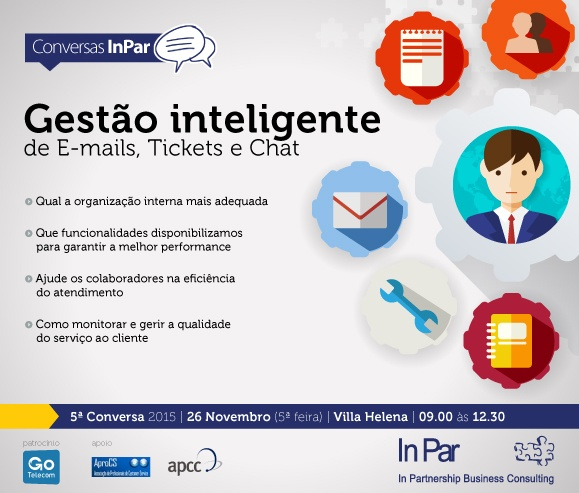 Gestão inteligente de E-mails, Tickets e Chat